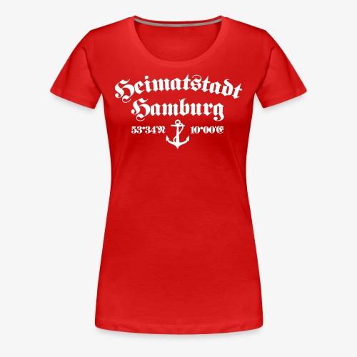 Heimatstadt Hamburg Koordinaten Anker Frauen T-Shirt - Frauen Premium T-Shirt