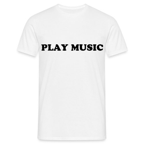 play music - T-skjorte for menn