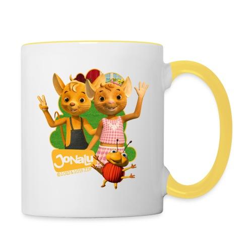 JoNaLu Jo Naya Und Lu Winken Fröhlich - Tasse zweifarbig