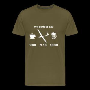 my perfect day as glider pilot - Männer Premium T-Shirt