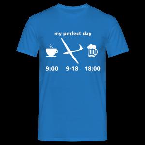 my perfect day as glider pilot - Männer T-Shirt