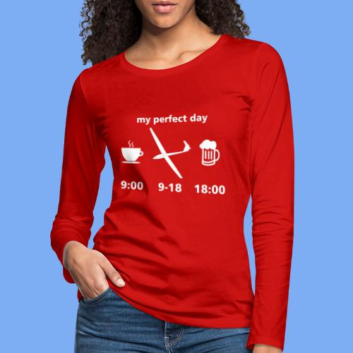 my perfect day as glider pilot - Women's Premium Longsleeve Shirt