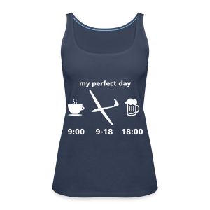 my perfect day as glider pilot - Frauen Premium Tank Top