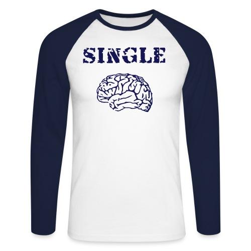 Single Brain - Maglia da baseball a manica lunga da uomo