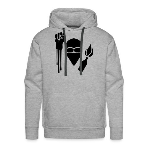 Anarchist Salute Hoodie - Men's Premium Hoodie