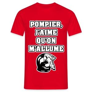 POMPIER, J'AIME QU'ON M'ALLUME - JEUX DE MOTS - FRANCOIS VILLE - T-shirt Homme