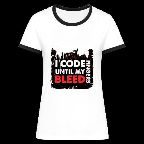 Bleed in Black for Women - Women's Ringer T-Shirt