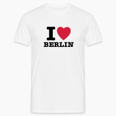 White I Love Berlin - I Heart Berlin Men's T-Shirts