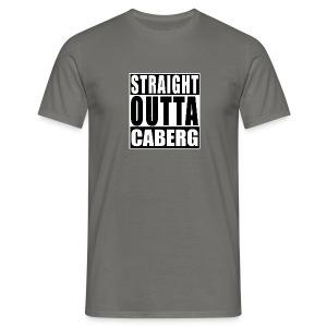 Straight Outta Caberg Men - Mannen T-shirt