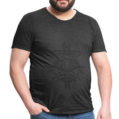 Vintage cross - Männer Vintage T-Shirt