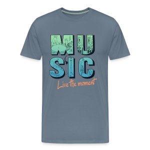 Music - live the moment - Männer Premium T-Shirt