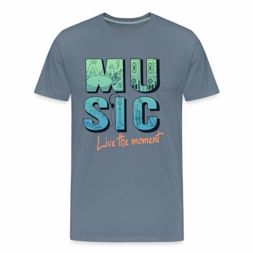 Music - live the moment - Männer Premium T-Shirt