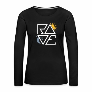 RAVE Day & Night V1 - langarm Shirt - Frauen Premium Langarmshirt