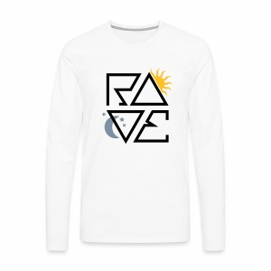 RAVE Day & Night V1 - langarm Shirt - Männer Premium Langarmshirt