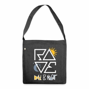 RAVE Day & Night V2 - Schultertasche aus Recycling-Material