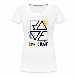 RAVE Day & Night V2 - T-Shirt - Frauen Premium T-Shirt