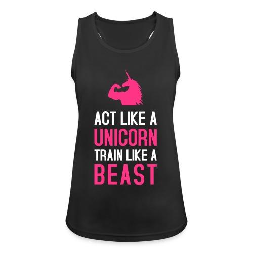 Act like a Bizepseinhorn: Frauen Tank-Top atmungsaktiv - Frauen Tank Top atmungsaktiv