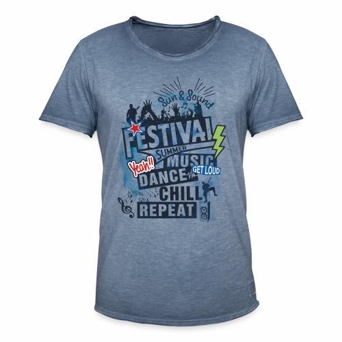 Festival_Summer Music - Männer Vintage T-Shirt