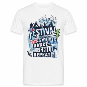 Festival_Summer Music - Männer T-Shirt