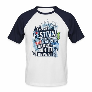 Festival_Summer Music - Männer Baseball-T-Shirt