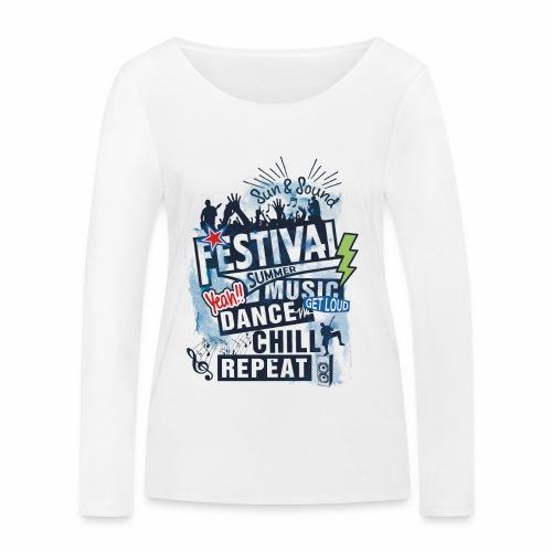Festival_Summer Music - Frauen Bio-Langarmshirt von Stanley & Stella