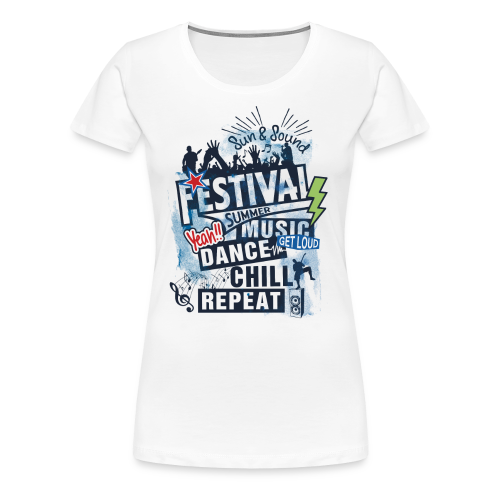 Festival_Summer Music - Frauen Premium T-Shirt