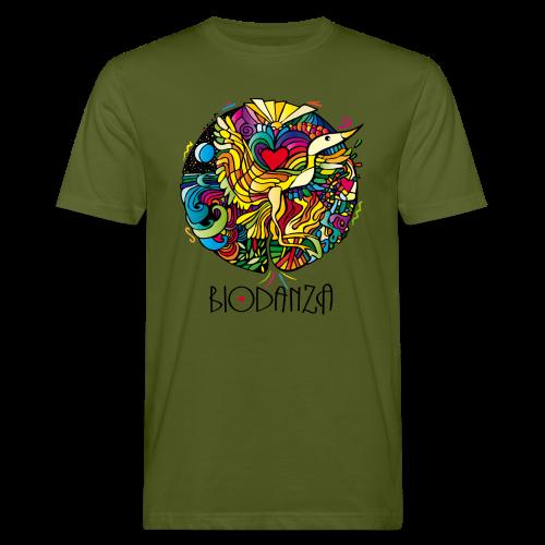 Biodanza Mandala Round-Neck Men Olive - Männer Bio-T-Shirt