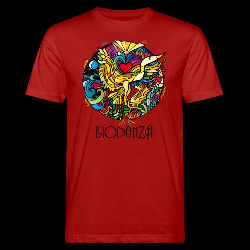 Biodanza Mandala Round-Neck Men red - Männer Bio-T-Shirt