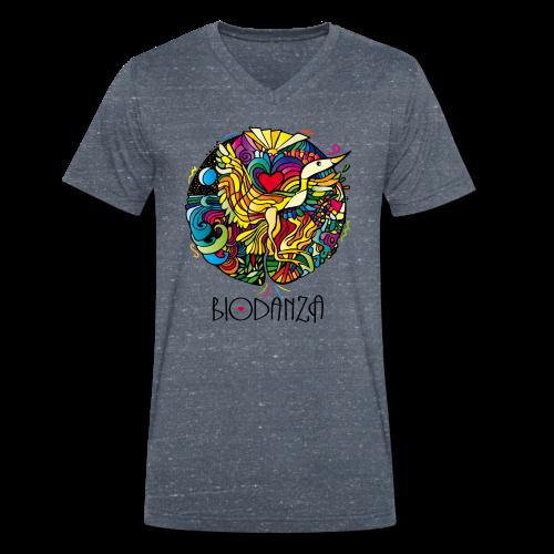 Biodanza Mandala V-Neck Men Blue - Männer Bio-T-Shirt mit V-Ausschnitt von Stanley & Stella