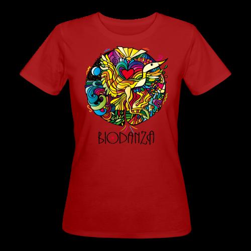 Biodanza Mandala Round-Neck Women Red - Frauen Bio-T-Shirt