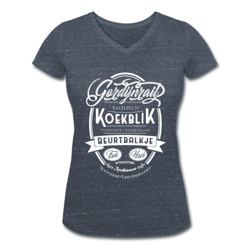 Gordijnrails vrouwen v-hals bio - Vrouwen bio T-shirt met V-hals van Stanley & Stella