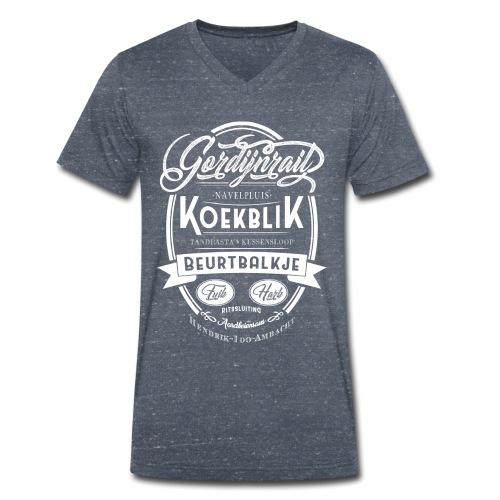 Gordijnrails mannen v-hals bio - Mannen bio T-shirt met V-hals van Stanley & Stella