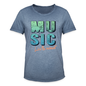 Music - live the moment - Männer Vintage T-Shirt