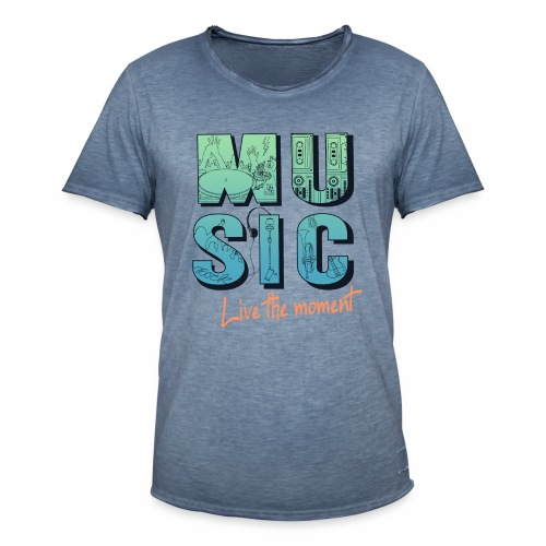 Music - live the moment - Männer Vintage T-Shirt