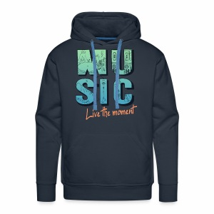 Music - live the moment - Männer Premium Hoodie
