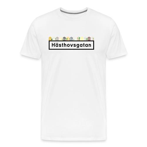 Hästhovsgatan med hus 1 - Premium-T-shirt herr