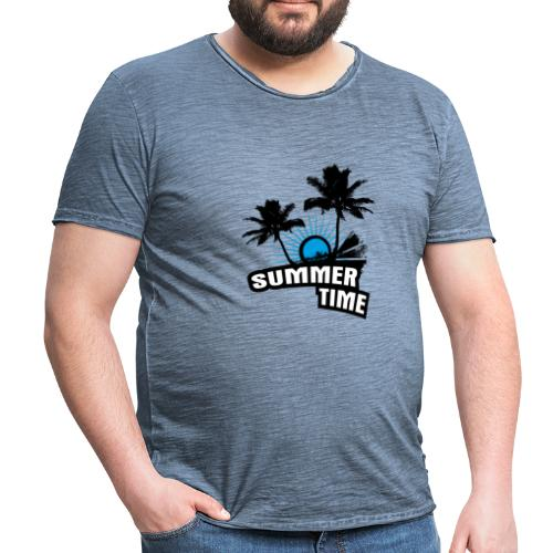 Summer Time  - Männer Vintage T-Shirt
