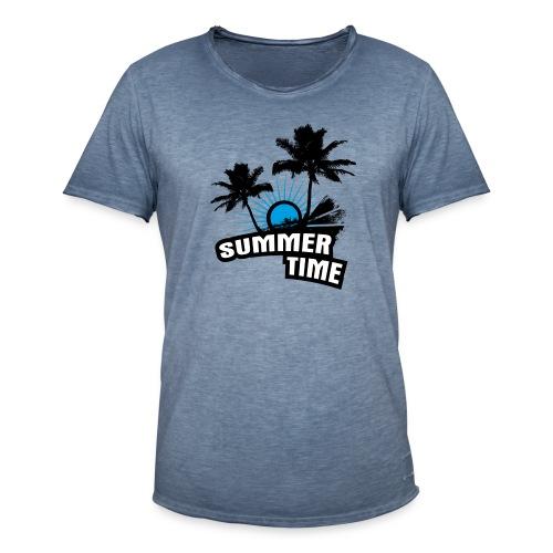 Summer Time  - Männer Vintage T-Shirt