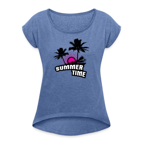 Spring Break - Frauen T-Shirt mit gerollten Ärmeln
