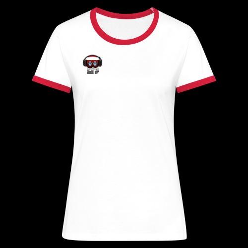 T-Shirt Femme Logo Bibulegom (rouge/blanc) - T-shirt contrasté Femme