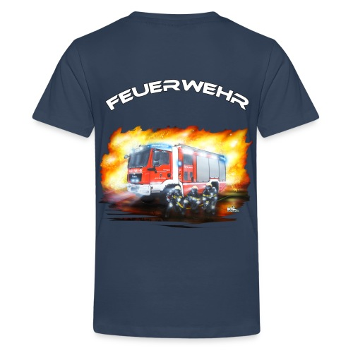 Teenagershirt mit Rückendruck TLF - Teenager Premium T-Shirt