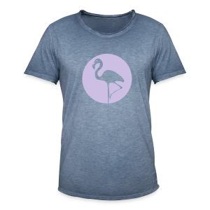Flamingo - Männer Vintage T-Shirt