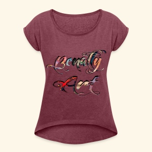 Benally Art Shirt Women  - Women's T-shirt with rolled up sleeves