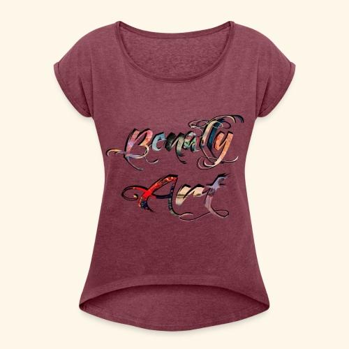 Benally Art Shirt Women  - Women's T-Shirt with rolled up sleeves