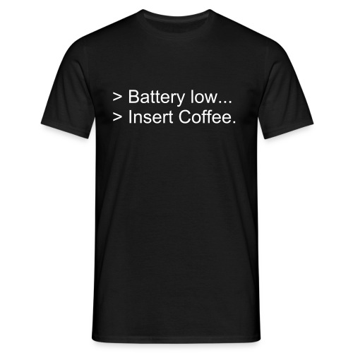 Battery low - T-shirt Homme