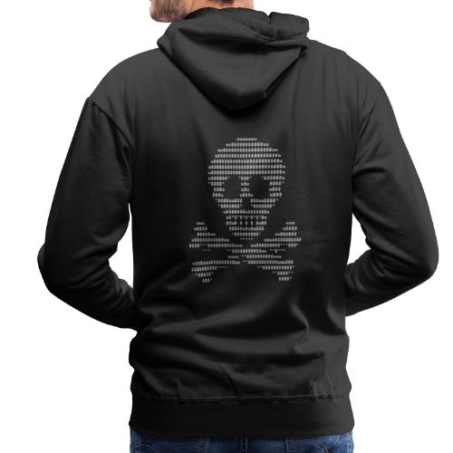 Ascii Skull Head - Sweat-shirt à capuche Premium pour hommes