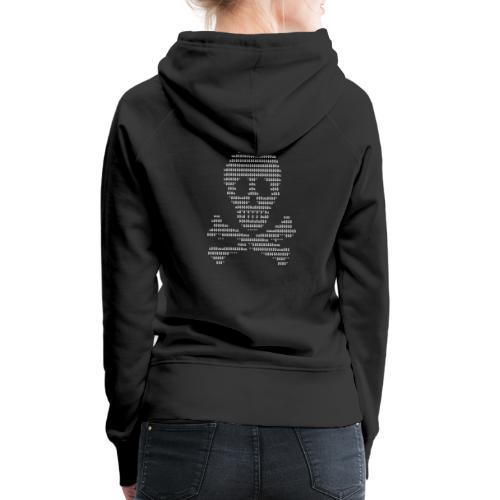 Ascii Skull Head - Sweat-shirt à capuche Premium pour femmes