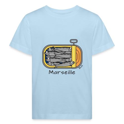 T-shirt Bio Enfant Boîte à Sardines, Marseille - T-shirt bio Enfant