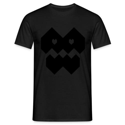 Love Monster/ Black/ Detail in the back - Men's T-Shirt