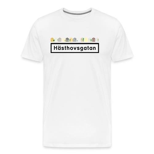 Hästhovsgatan med hus 2 - Premium-T-shirt herr